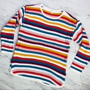 Westbound Multicolor Striped Crew Neck Sweater